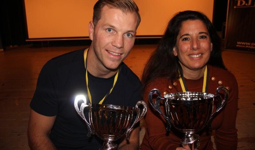 Roy Korving en Iris Wisse zijn uitgeroepen tot sportman en sportvrouw van het jaar. (foto en tekst: Erik van Leeuwen)