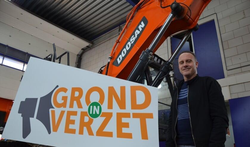 Waddinxveen was even het epicentrum voor de voorbereidingen van het nationale bouwprotest Grond in Verzet. (tekst en foto Myriam Dijck)