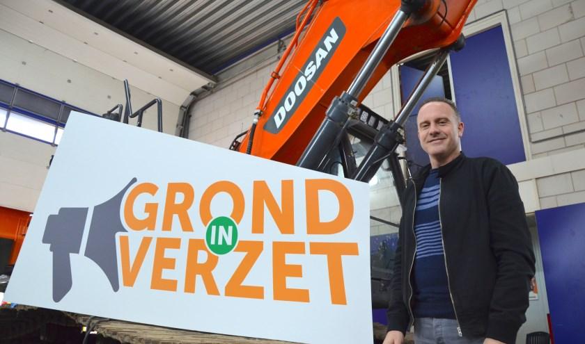 Het bedrijf van Sander de Regt in Waddinxveen was de afgelopen weken het epicentrum van de voorbereidingen voor de bouwactie van 30 oktober. (tekst en foto: Myriam Dijck)