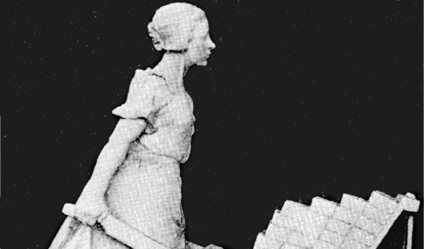 Verdwenen gipsen stenenkruister van Mica Bosch Reitz uit 1898.