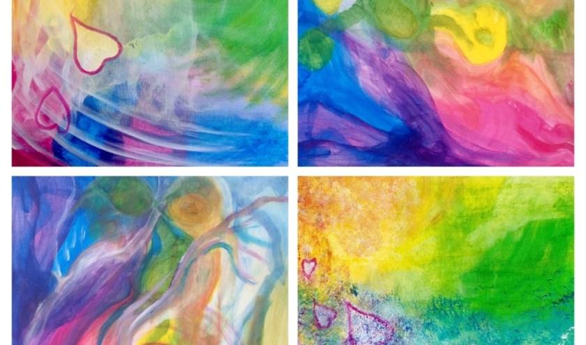 Een voorbeeld van intuïtief schilderen met kleur. (foto: pr)