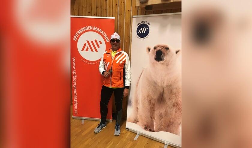 """Hardlopen in Spitsbergen: """"Zwaar maar fantastisch"""", vindt Cees van der Harst."""