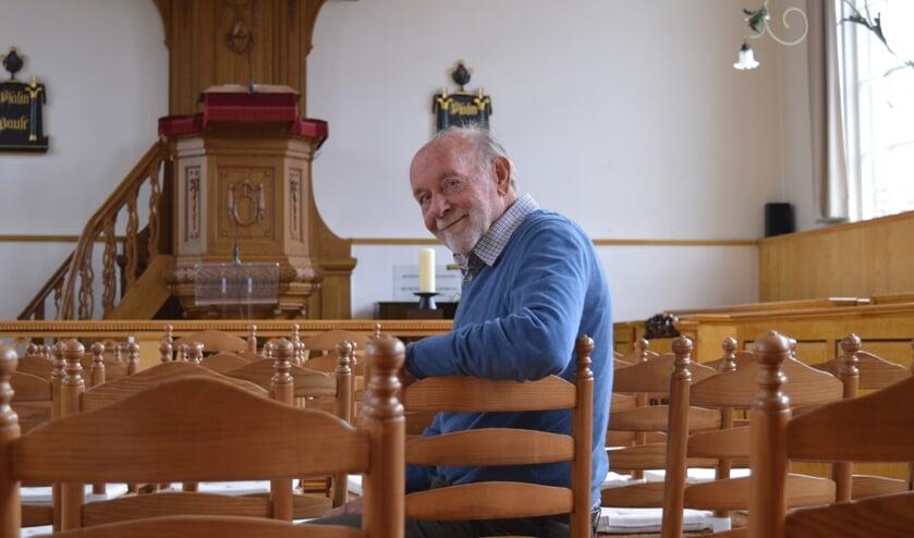 Ruud van den Bosch, auteur van '400 jaar remonstrantse broederschap in Waddinxveen'.