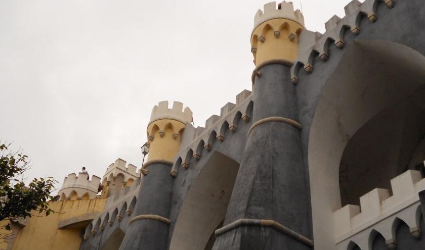 Palácio da Pena in de Portugese stad Sintra.