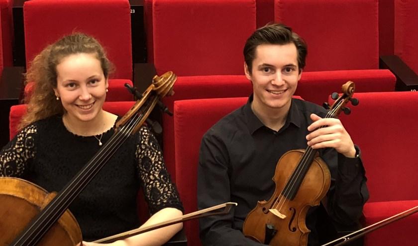 Charlotte (cello) en Maxime (viool) Gulikers. (foto:pr)