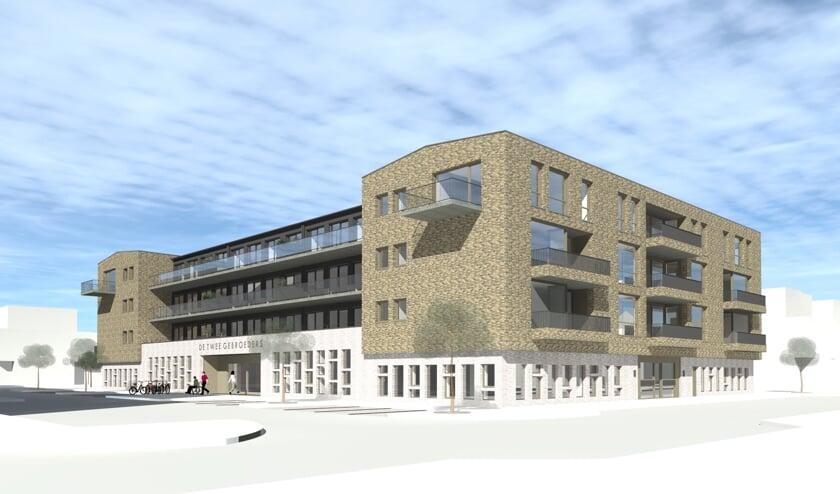 Wethouder Jan Hordijk ging niet mee in de roep van omwonenden om nog eens te kijken naar de 'massaliteit' van het nieuwe gebouw.