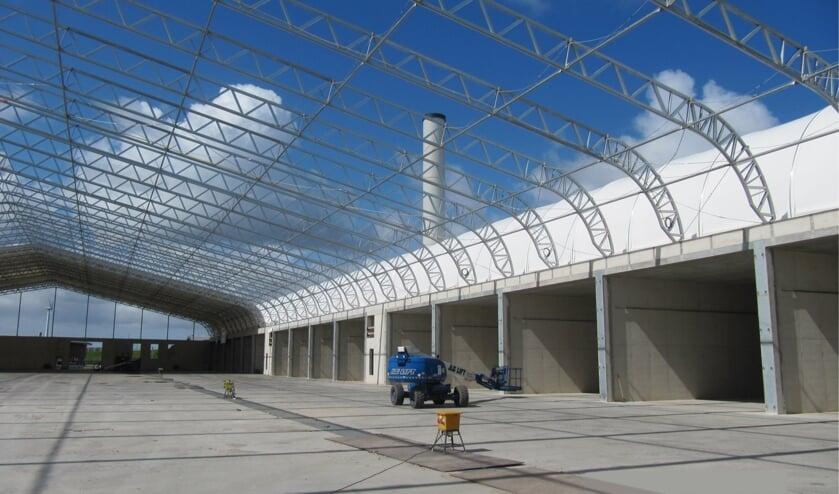 In Hoek van Holland werd in 2012 een vergelijkbare tunnelcompostering gebouwd. (foto: Renewi)
