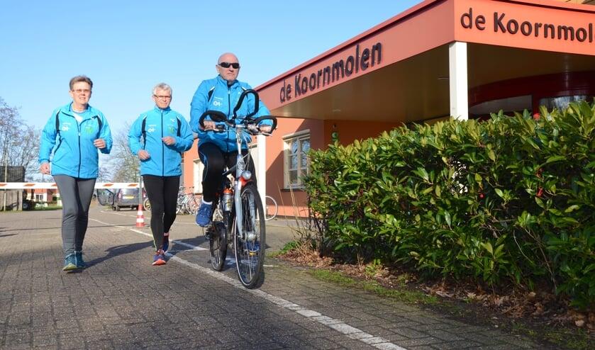 Lenie van 't Wout, Frans Metselaar en Rik Berends zijn drie van de zes organisatoren van de Fun Run.