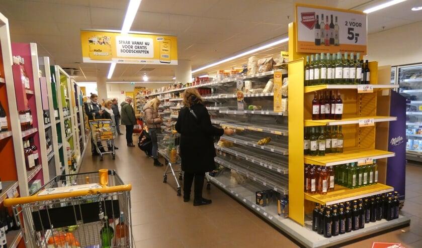 Sommige producten zoals pasta waren niet aan te slepen het afgelopen weekend.