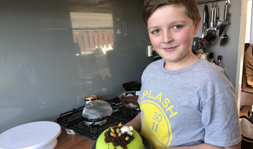 De 10-jarige taartenbakker Alec van der Haven uit Nieuwerkerk hoopt dit jaar mee te doen met Heel Holland Bakt Kids.