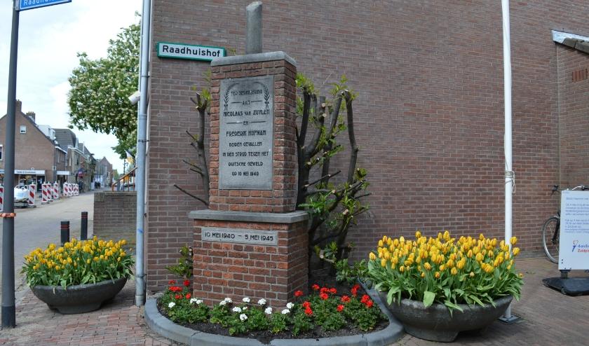 Het herdenkingsmonument in Zevenhuizen.