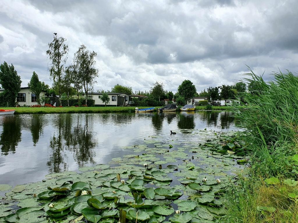 De laatste meters van de vierdaagse legden we af langs de Ringvaart in Moordrecht. Foto: Judith Rikken © HvH Zuidplas