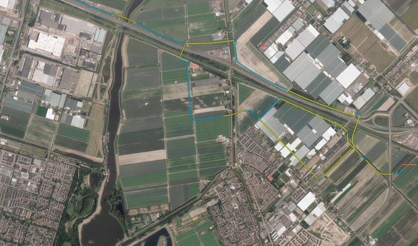 <p>De alternatieve kabeltrac&eacute;s ten noorden en ten zuiden van de A12. (afbeelding: TenneT)</p>