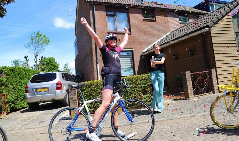 <p>Ontlading bij Jeanine van Leeuwen, na thuiskomst in Zevenhuizen.</p>