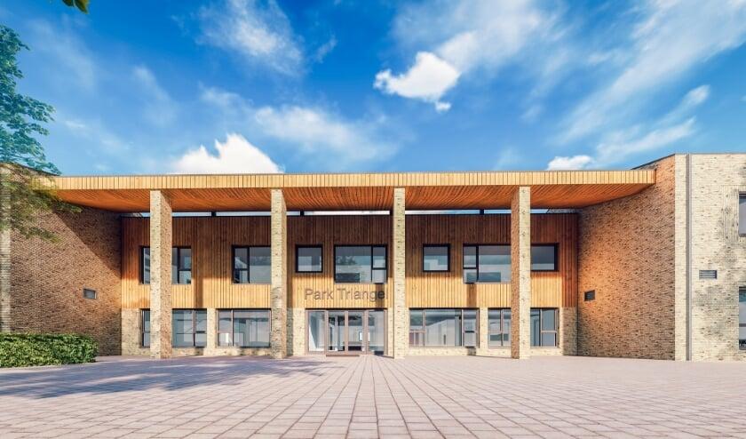 <p>Scholencomplex Triangel dat pas anderhalf jaar geleden werd geopend. (tekst: Erik van Leeuwen; afbeelding: pr)</p>