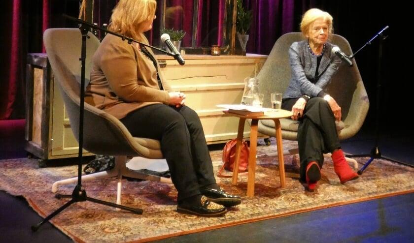 <p>In 2019 zat Sonja Barend in de stoel om door Leferink ondervraagd te worden. (foto: archief HvH)</p>