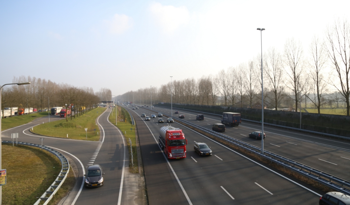 De A2 is in Boxtel een grote luchtvervuiler.