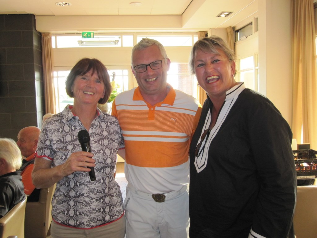 de nieuwe organisatoren Liesbeth van Horen, Edwin Esser en Gerian van Ooijen Foto: Boxtelse Golfkampioenschappen © MooiBoxtel