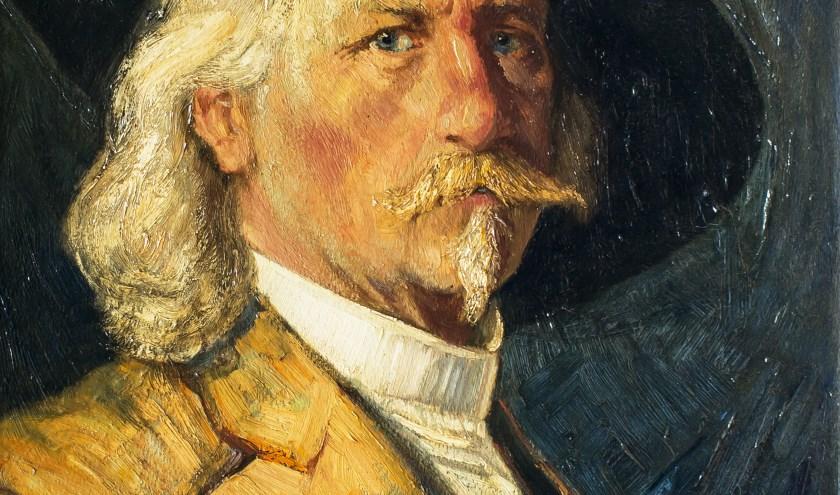 Schilderij met zelfportret Jan Kruijsen. (fotograaf Rini van Oirschot)     Fotonummer: 10ad21