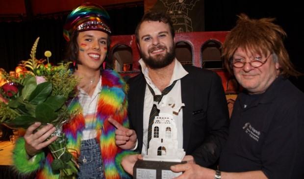 De prijswinnaars van Torenproat, vlnr: Ella Bétë (zondag), Kor Bal (Bram van Hulten, zaterdag) en overall) en Willemke Zever (Willem Verhoeven, vrijdag). Foto: Francien van Weert © MooiGestel