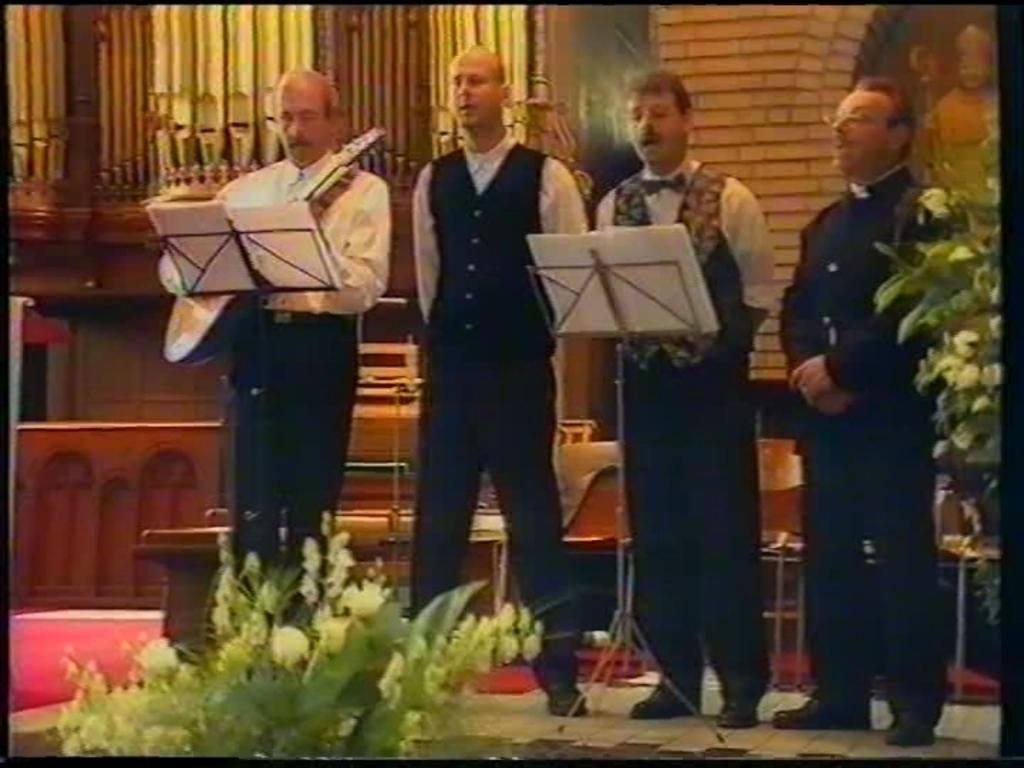 Vierus.nl met van links naar rechts: Pierre Berende, Willy Dona, Faas Sengers en Rini de Wit. Foto: Rini de Wit © MooiGestel