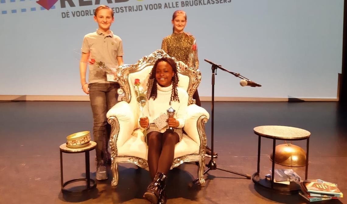 Winnares van Read2Me, Ashley Irene. (Foto: Babel)