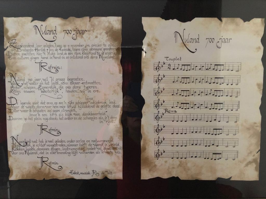 Tekst en muziek Volkslied: Nuland 700 jaar. Foto: Rini de Wit © MooiGestel