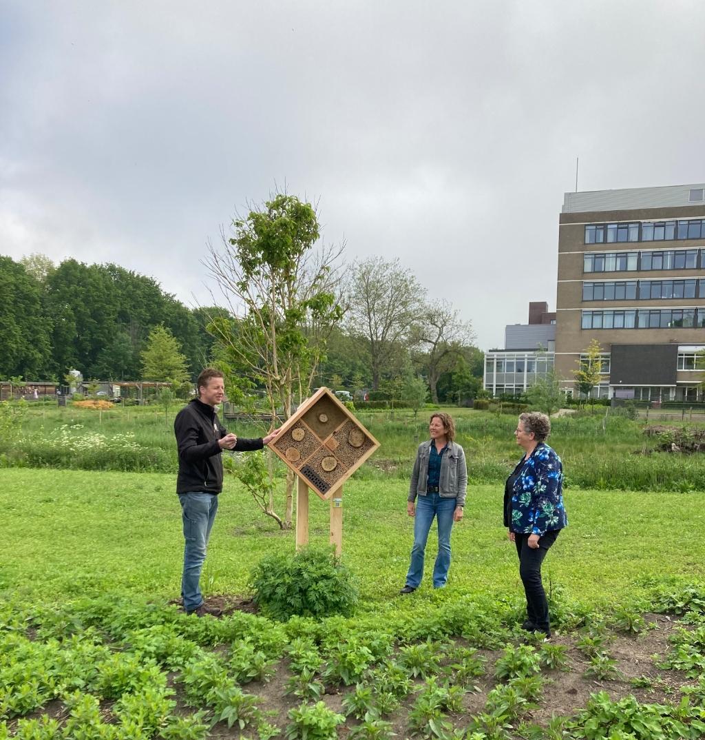 Leon Gerrits, Sandra Verhagen en Désiré van Laarhoven. Foto: Natuur in de Wijk © MooiBoxtel