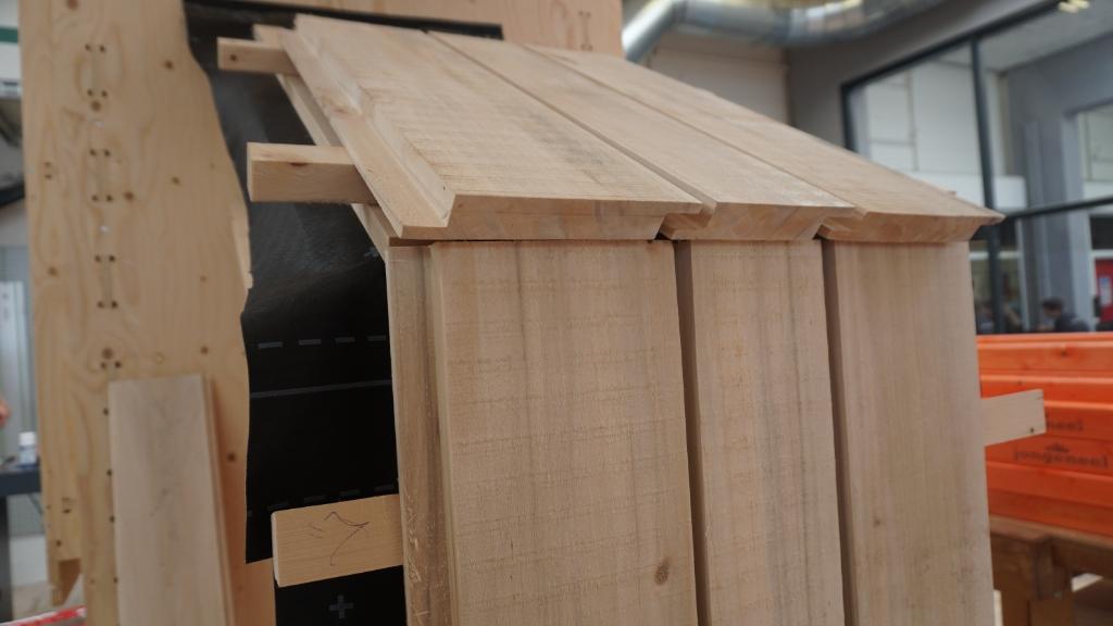 Delen van het dak worden gemaakt van populierenhout uit Liempde. Foto: Sander van Kasteren © MooiBoxtel