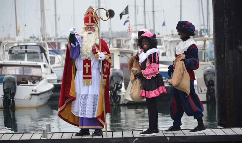 Sinterklaas bij de intocht van vorig jaar.