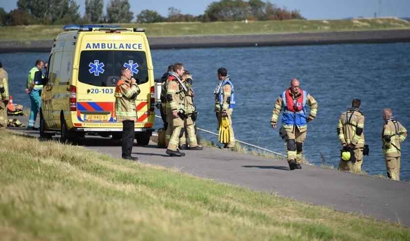 Diverse brandweerkorpsen hielpen mee bij het zoeken naar een vermiste zwemmer bij Gorishoek eerder dit jaar.