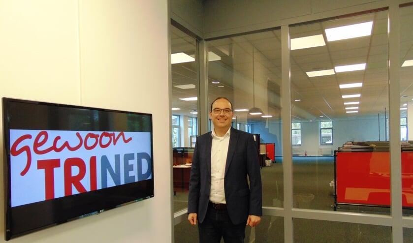 Paul van Wanrooij in zijn nieuwe kantoor.   | Fotonummer: b2c9c0
