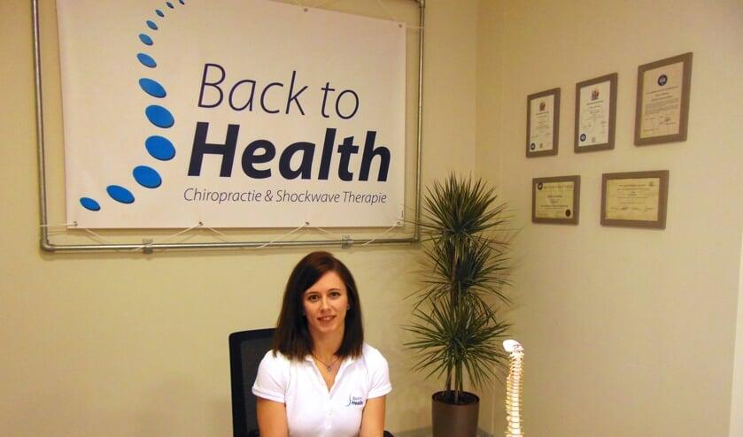 Manon Swinkels ging op de koffie bij deze kundige dame van Back to Health.   | Fotonummer: 0285b4