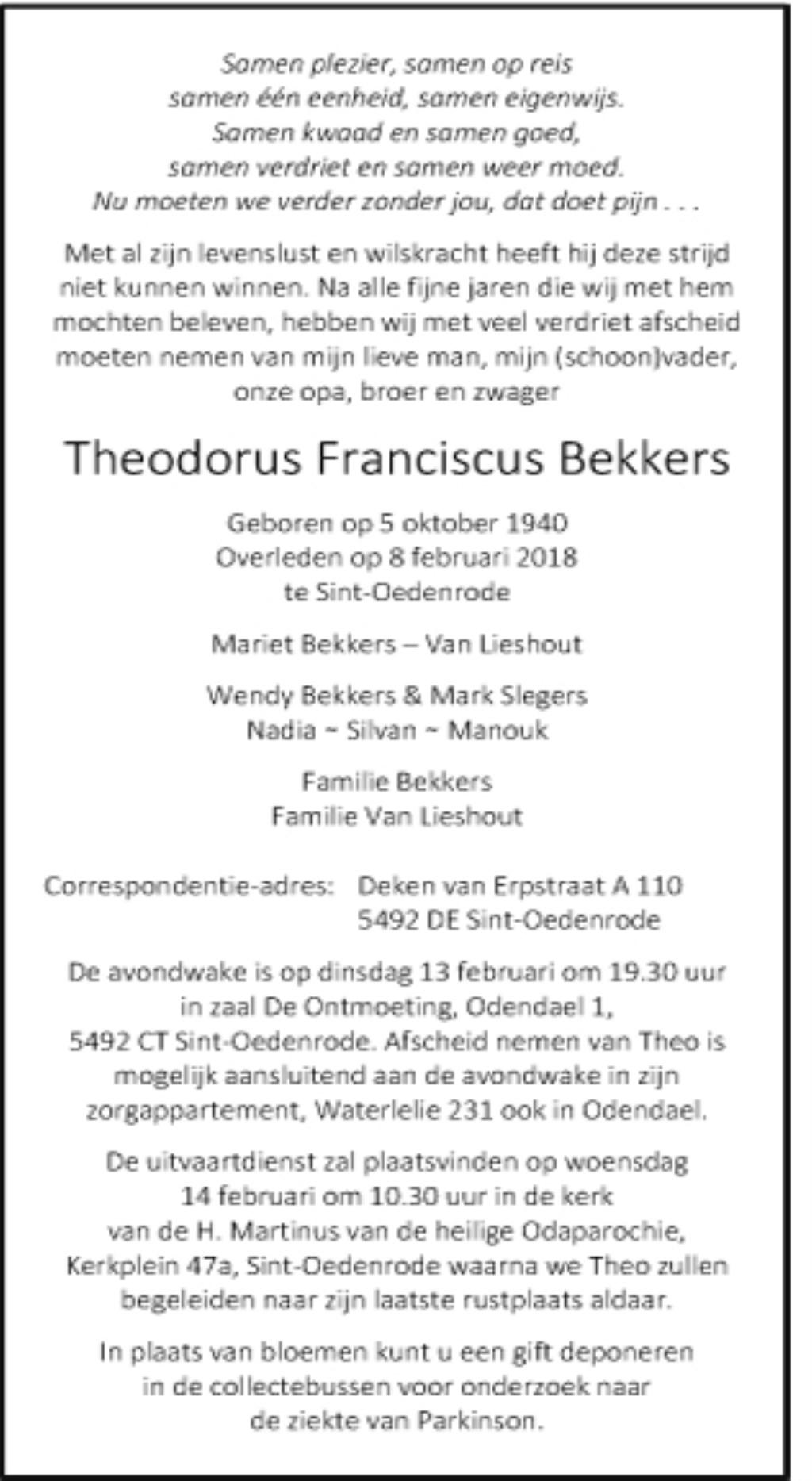 Rinus Van Kasteren Theo Bekkers Demooirooikrant