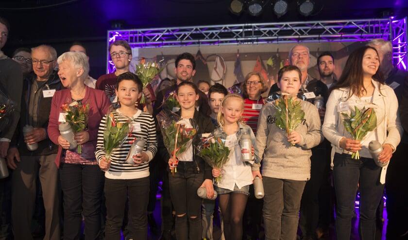 Alle winnaars pasten maar net op het podium     Fotonummer: 2124f1