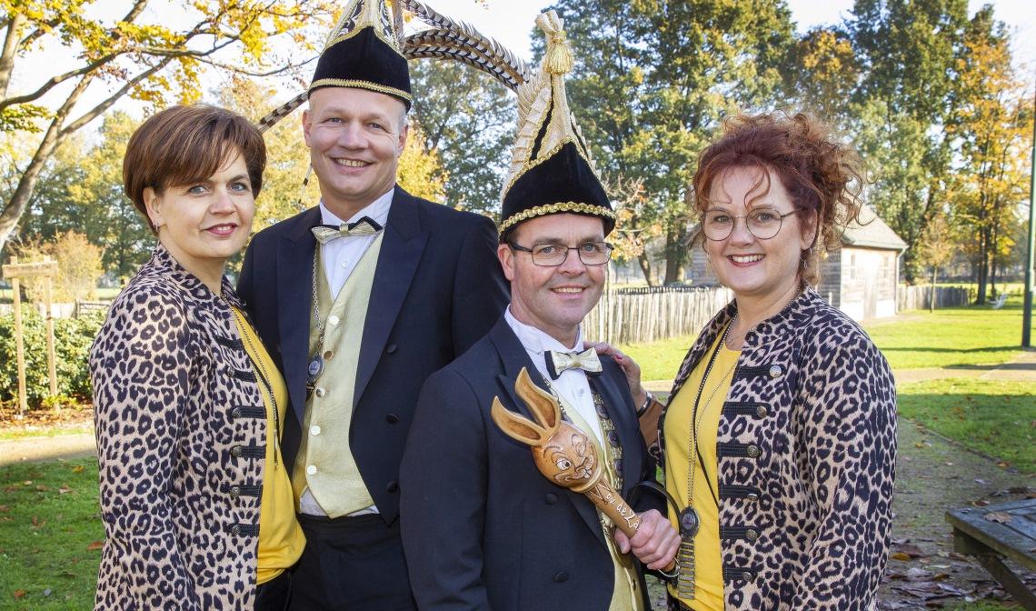 Het kwartet dat Carnaval in Boerdonk een boost gaat geven.