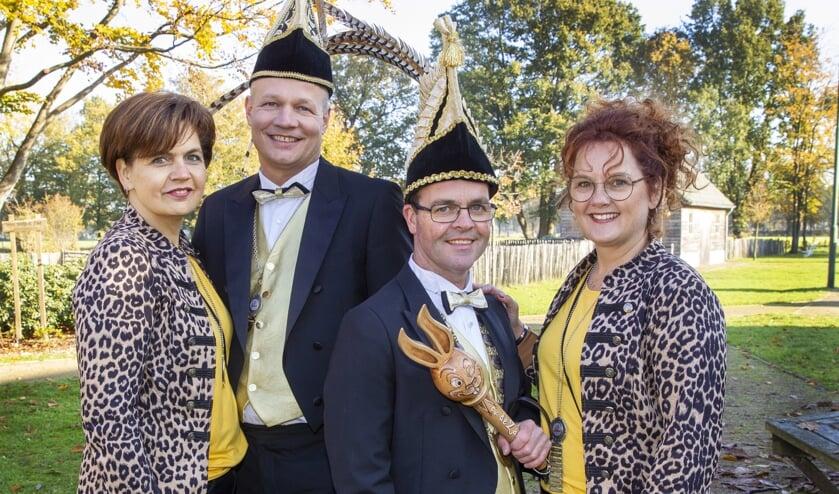 Het kwartet dat Carnaval in Boerdonk een boost gaat geven.   | Fotonummer: 0183e1