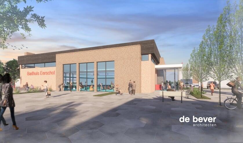 De tekeningen van het nieuwe zwembad zijn al gemaakt.     Fotonummer: 3e63b7