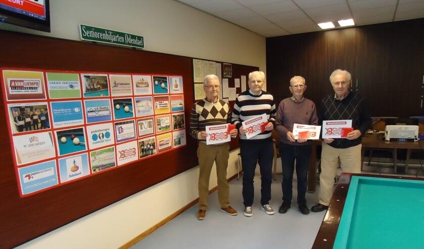 v.l.n.r. Jan van Erp en Piet van de Vorstenbosch (1), Wim van Breugel en Wim van de Rijt (2)    | Fotonummer: b15078