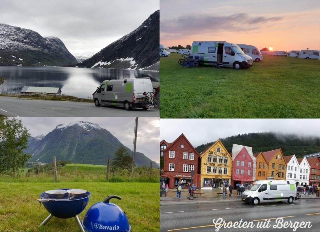 Groeten uit Noorwegen. Wilgard en Rian van Langen.  © MooiRooi