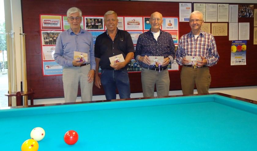 v.l.n.r. Gerard van der Steen (1), Martien van Schijndel (2), Ben van Genugten (3) en Jan van Erp (4).   | Fotonummer: 7d87a0