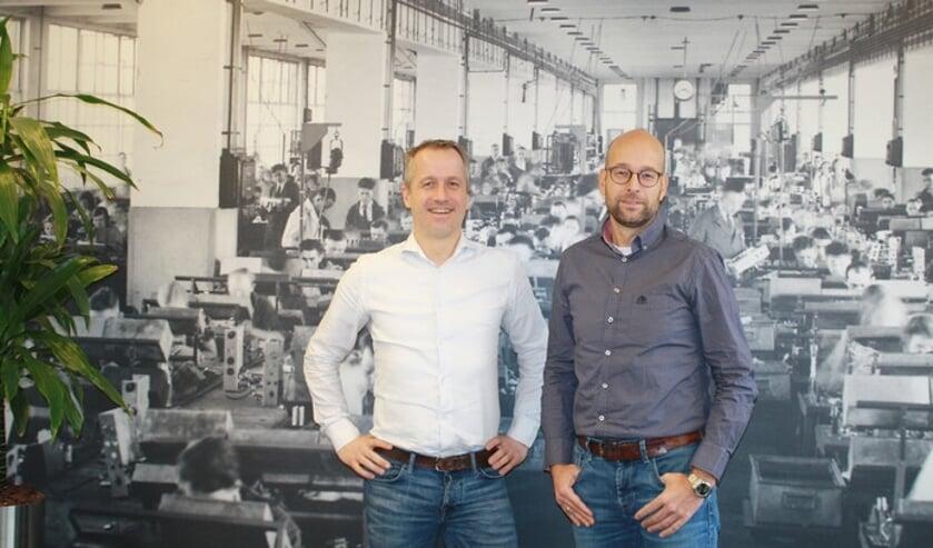 Jan van Vroenhoven (links) en Wilco Crone van TechMatch   | Fotonummer: 2cc3f1