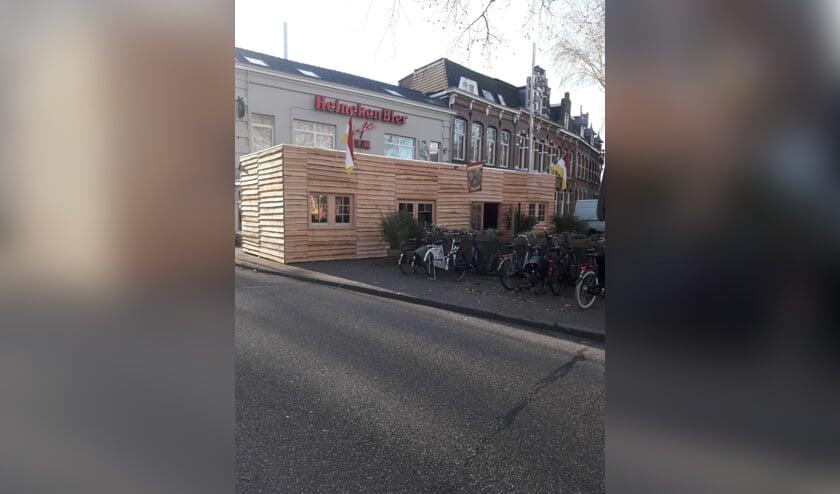 Een hut in deze stijl wordt tijdens carnaval opgebouwd voor de Gouden Leeuw.   | Fotonummer: e7f05d