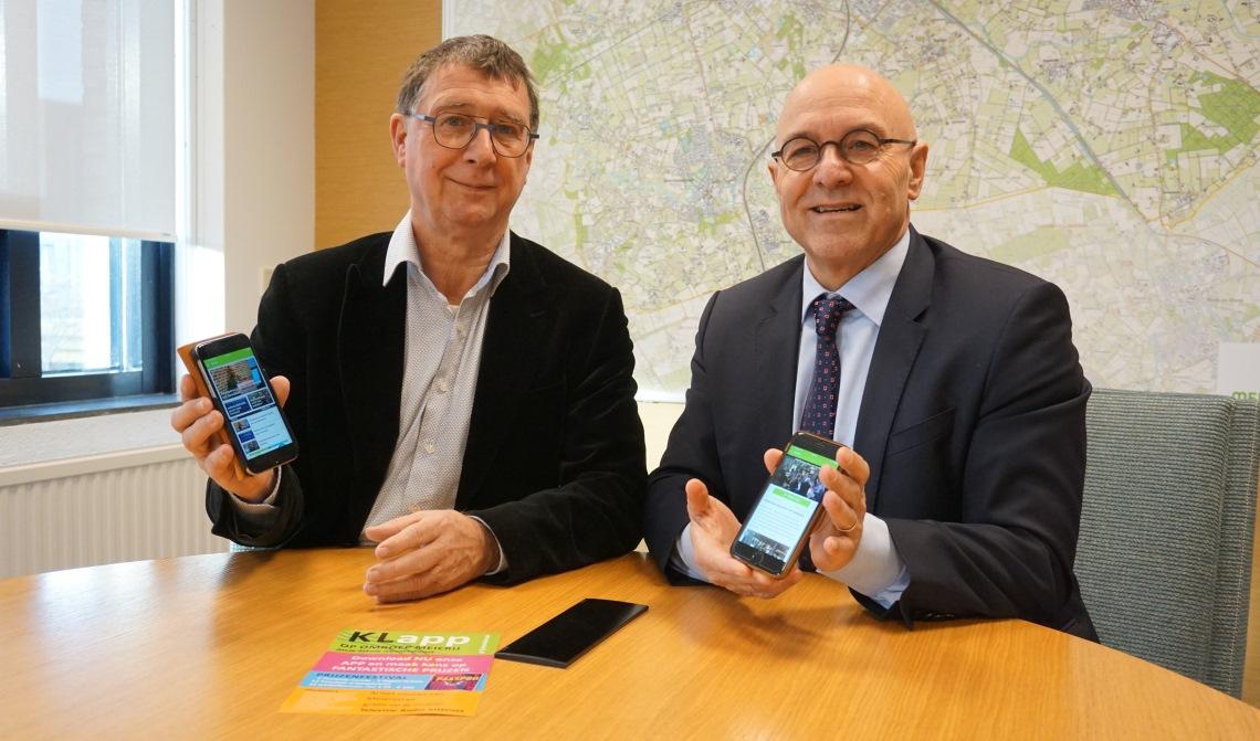 Voorzitter van Omroep Meierij Bart Eijkemans, opent samen met de burgemeester de app.
