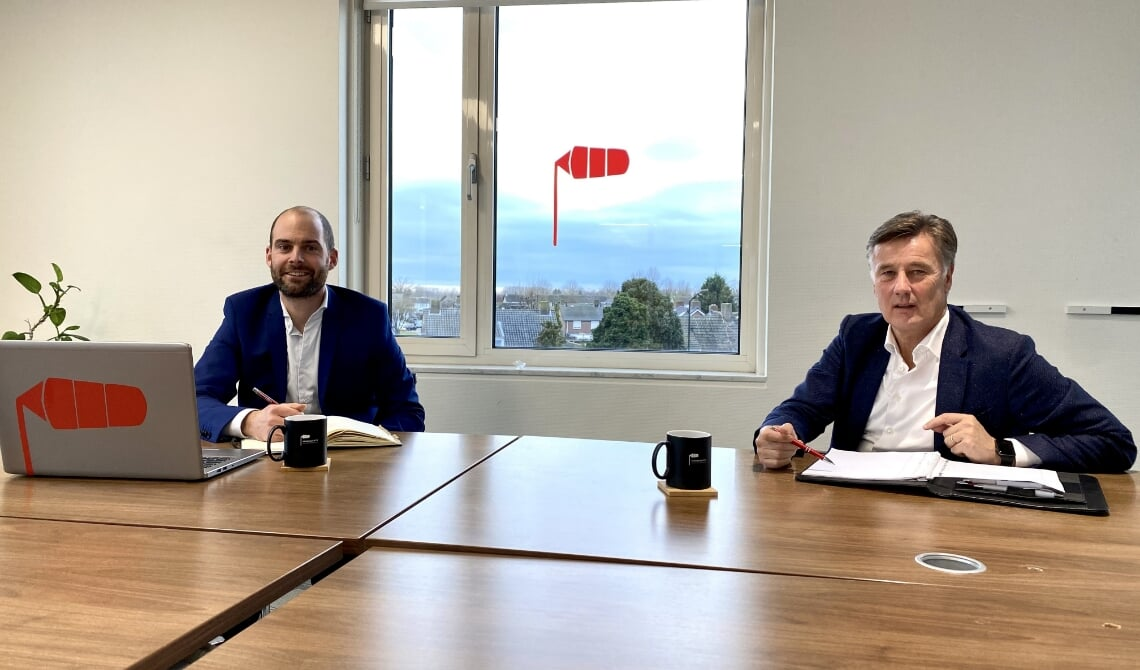 Geert (l) en Arent in het onderkomen van Startup Meierijstad.
