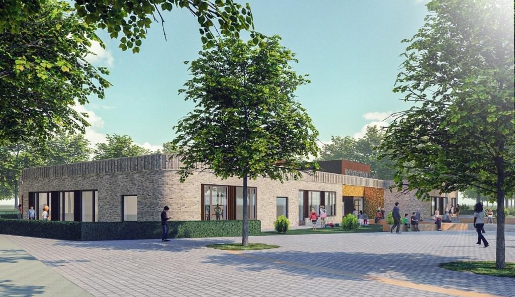 Een impressie van het nieuwe 'kindcentrum'  © MooiRooi