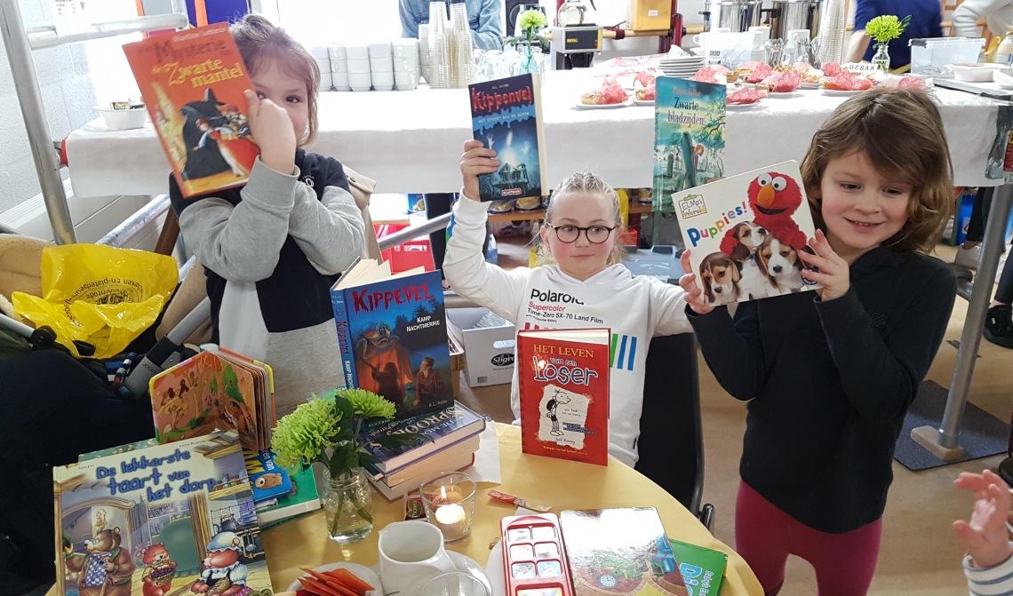 Ook voor kinderen zijn er veel boeken te verkrijgen.