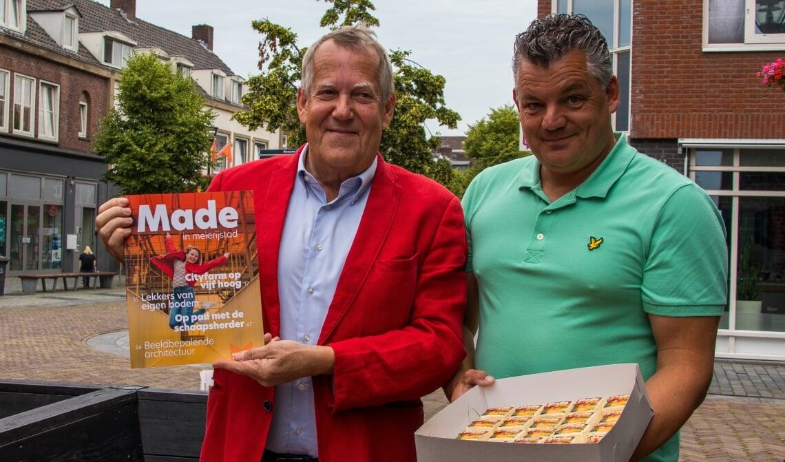 Wethouder Van Rooijen en Robert van den Brand.
