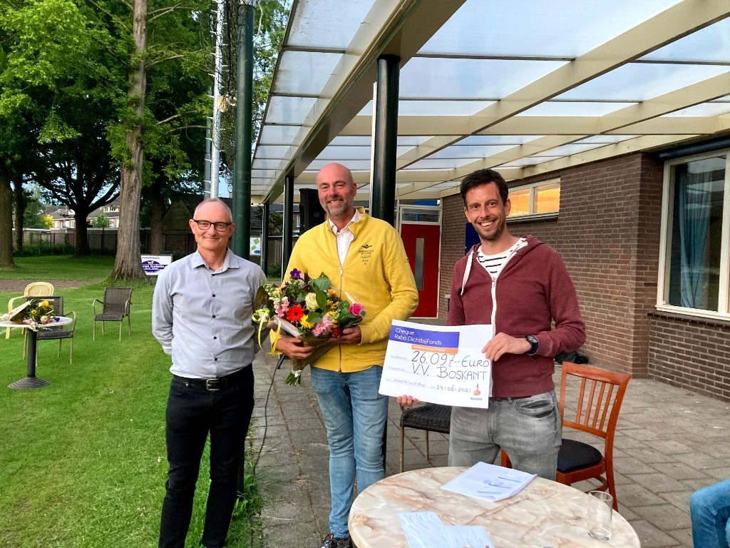 Huub vd Zanden (l) en Maarten van de Linden (r) danken de Rabobank. Foto:  © MooiRooi