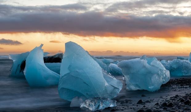 Jökulsárlón, het ijsbergenmeer, tot 2009 volgens Gerry van Roosmalen het mooiste plekje van IJsland (C) Gerry van Roosmalen Foto: Gerry van Roosmalen © MooiRooi